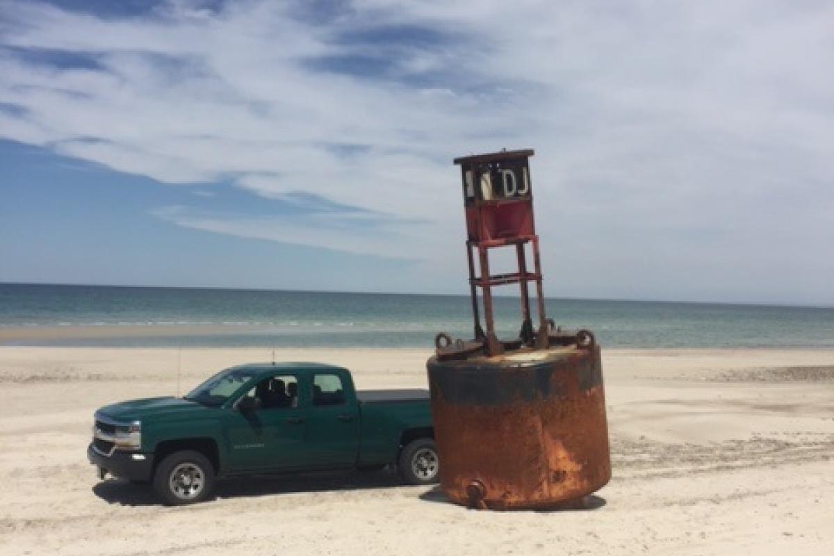 Buoy washed ashore